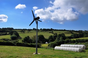 Glamping & Yurt Holidays in Cornwall - Sustainability using wind energy at Cotna Eco Retreat