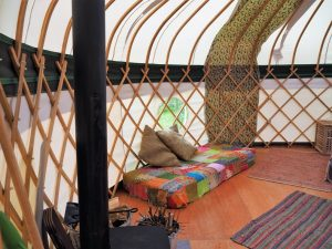 Tregonna King Yurt inside