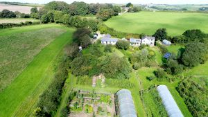Cotna, Showing farmhouse and Pengelley Orchard Studio